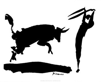 picasso bullfight sketch