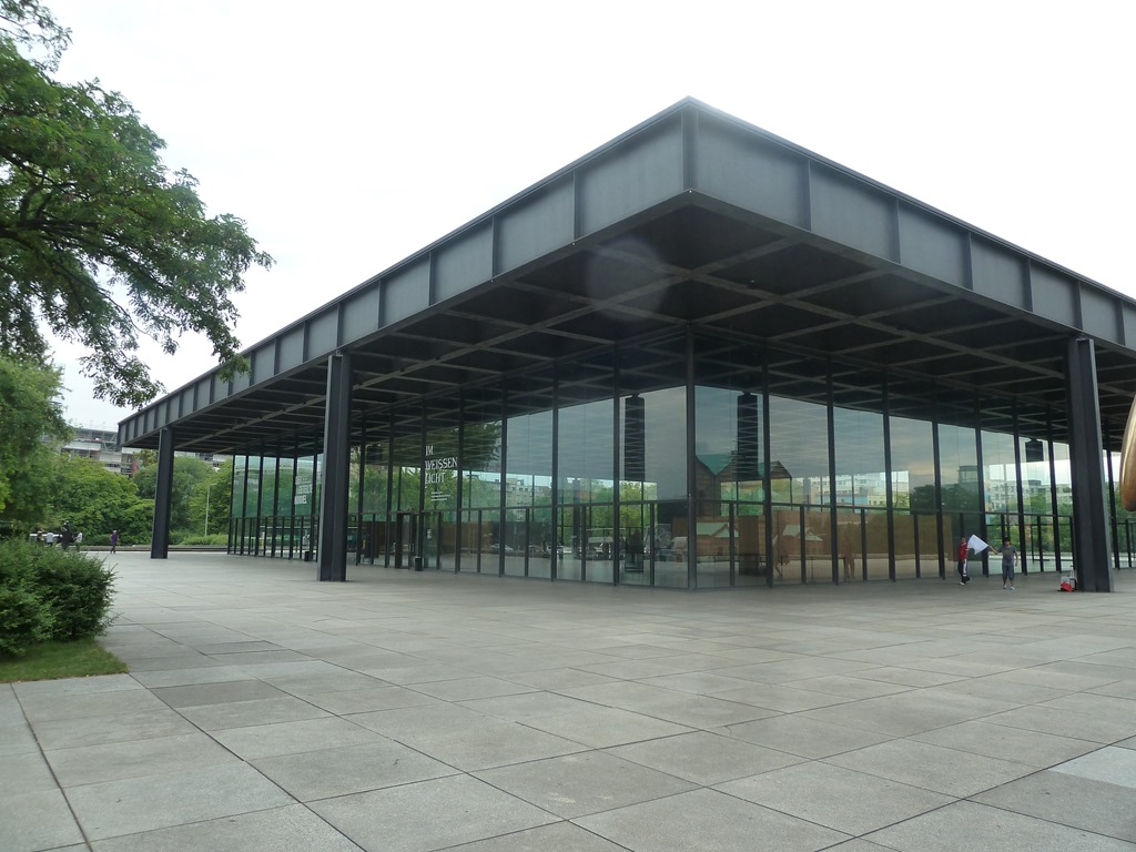 Metal Building Pillar : The neue nationalgalerie berlin architecture down by
