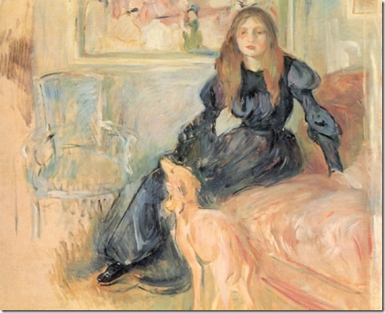 Berthe_Morisot_-_Girl_with_Greyhound_-_1893