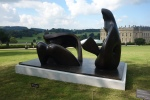 Three Piece Reclining Figure, Draped by Henry Moore