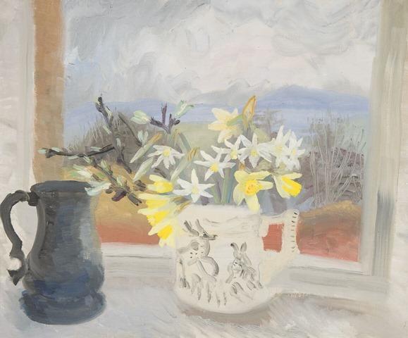 Winifred Nicholson, Daffodils and Pewter Jug, 1953