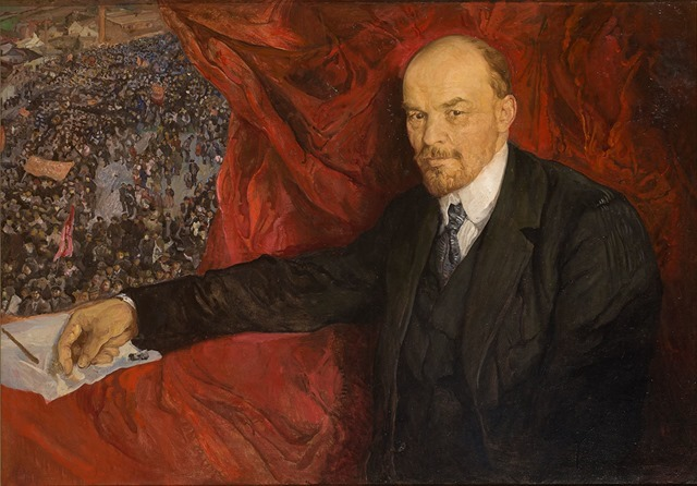 Isaak Brodsky, VI Lenin and a demonstration