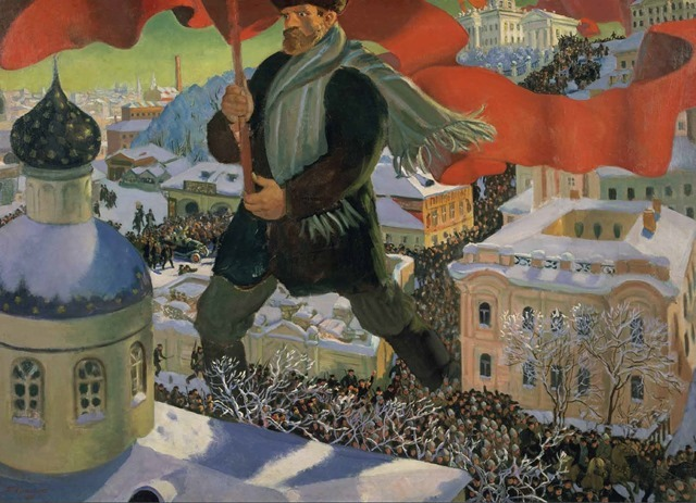 The Bolshevik. Boris Kustodiev, 1920