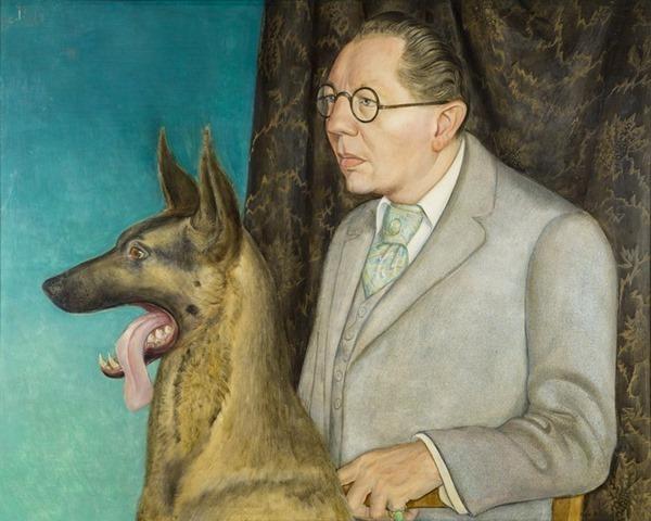 Hugo Erfurth con perro