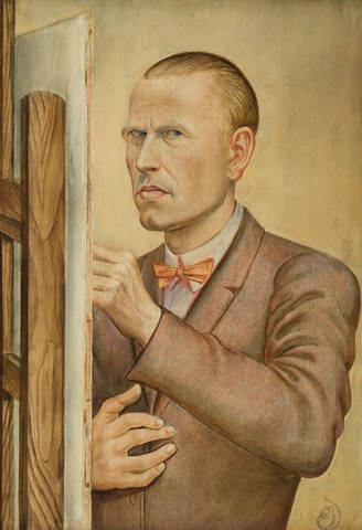 otto_dix_self-portrait_with_easel_1926_3