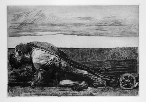 kathe-kollwitz-the-peasant-war-the-ploughman-1907