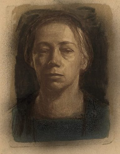 Käthe-Kollwitz-1867-1945-Self-Portrait-1904-Lithograph-©-The-Trustees-of-the-British-Museum-Medium-600x769