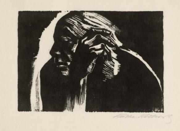 Käthe-Kollwitz-1867-1945-Self-Portrait-1924-Woodcut-©-The-Trustees-of-the-British-Museum-Medium-600x436