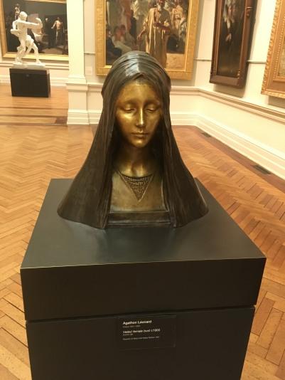 """""""Veiled female bust"""" by Agathon Leonard"""