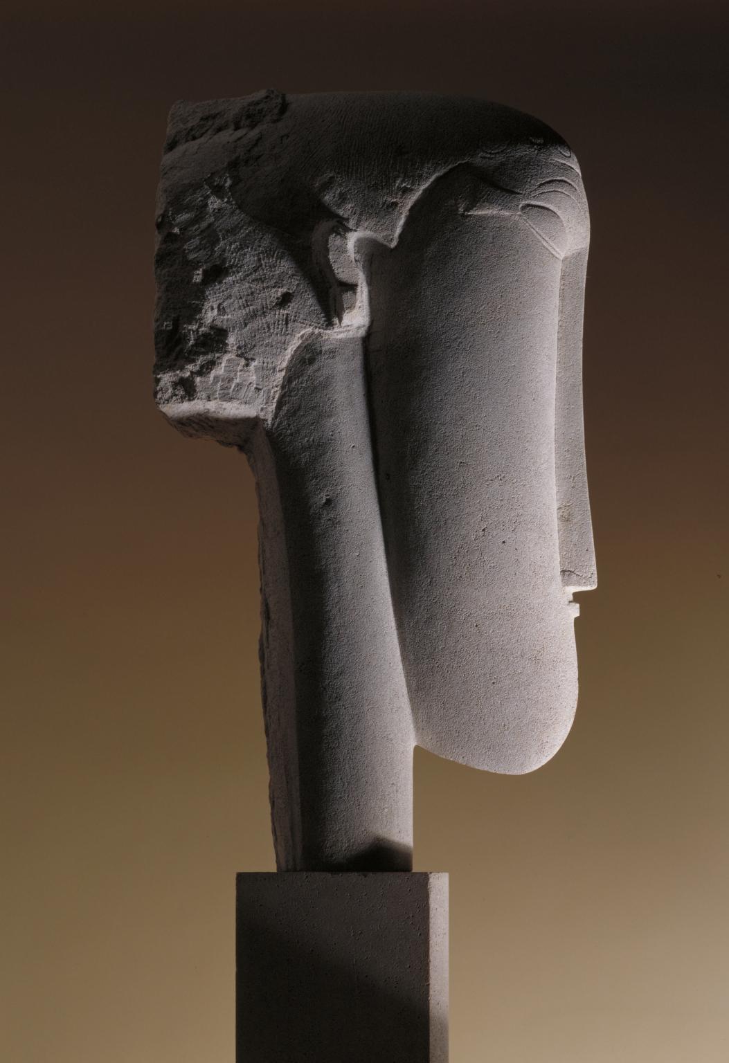 Head c.1911-2 by Amedeo Modigliani 1884-1920